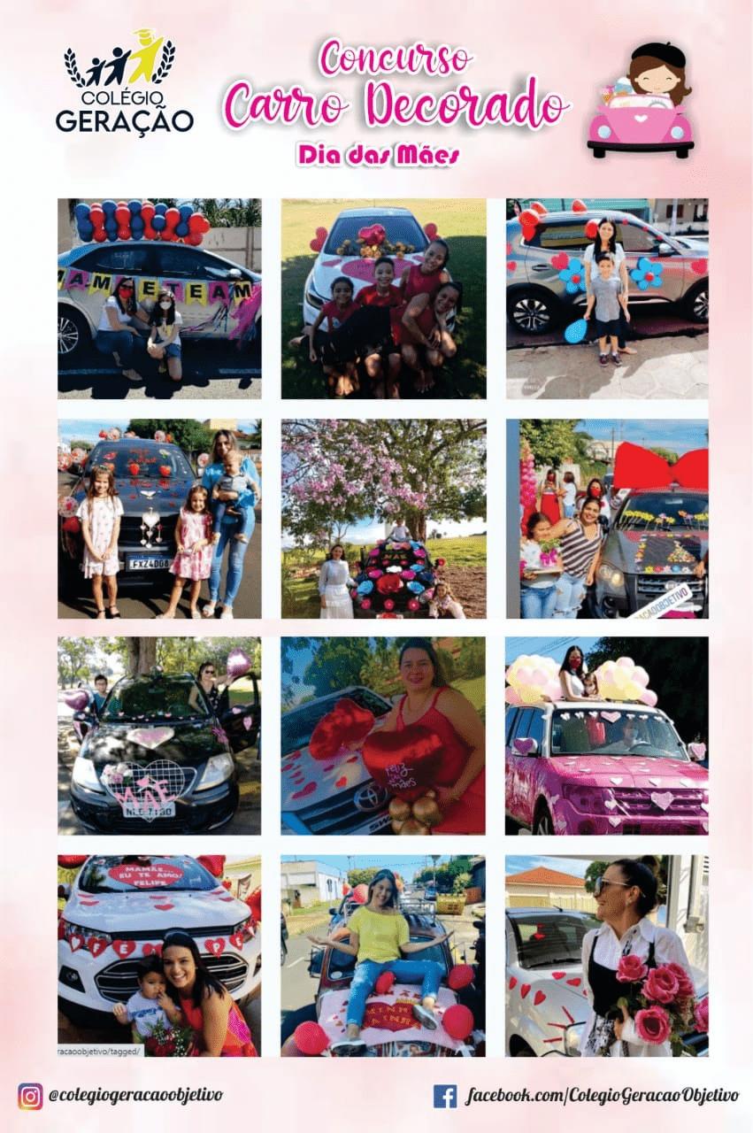Concurso Carro Decorado do Colégio Geração termina hoje; veja e vote nos participantes