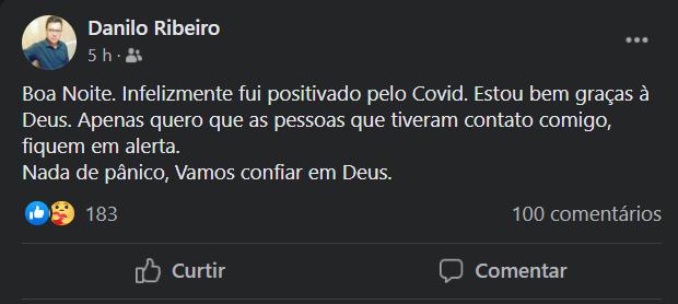 Exemplo: cassilandense informa que está com Covid e pede alerta das pessoas que o encontraram