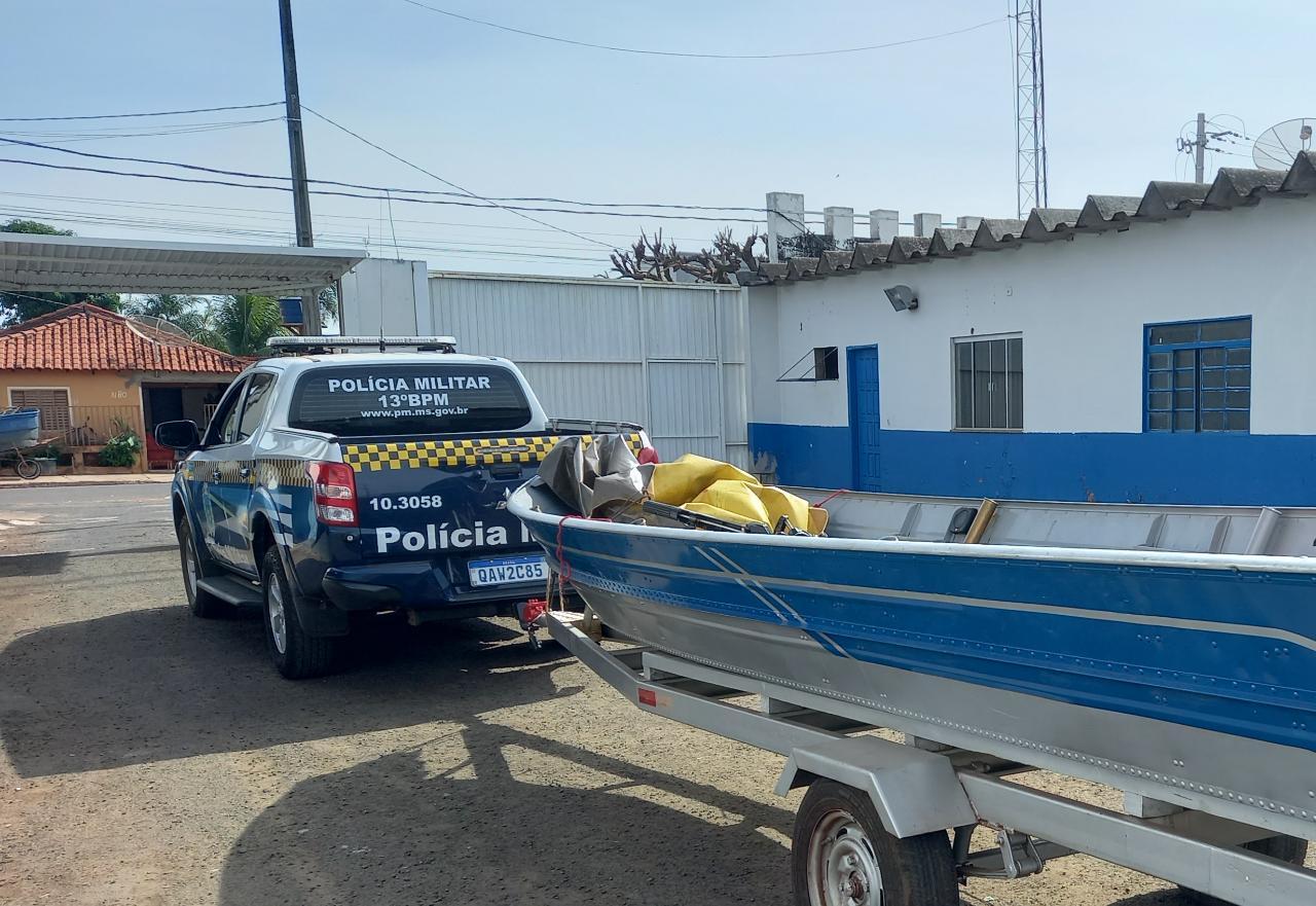 PM recaptura foragido do sistema prisional, apreende radioamadores e embarcação