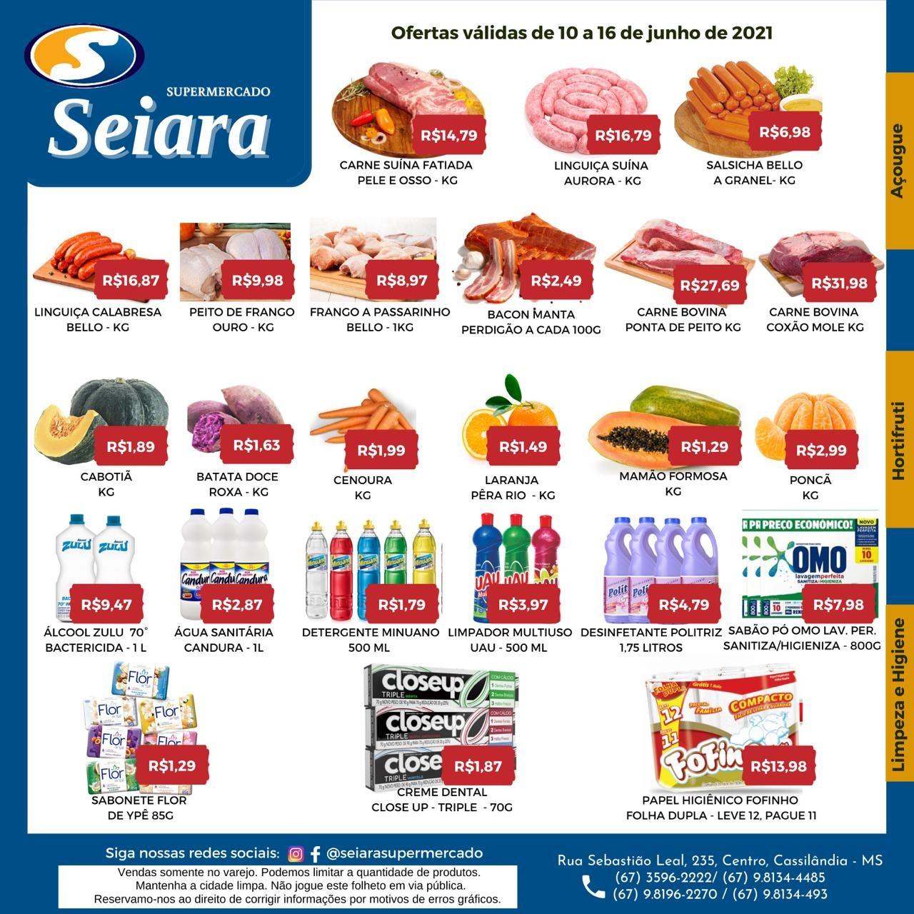 Seiara Supermercado Econômico: confira o mais novo folheto de ofertas