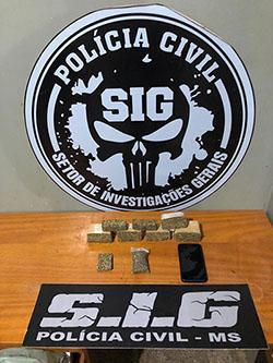 Homem é preso suspeito de tráfico de drogas em Aparecida do Taboado