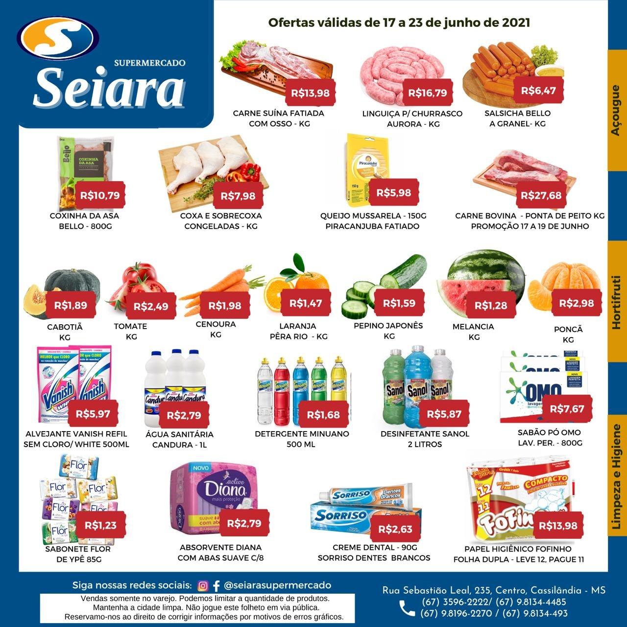 Seiara Supermercado Econômico: novo folheto da semana já está valendo