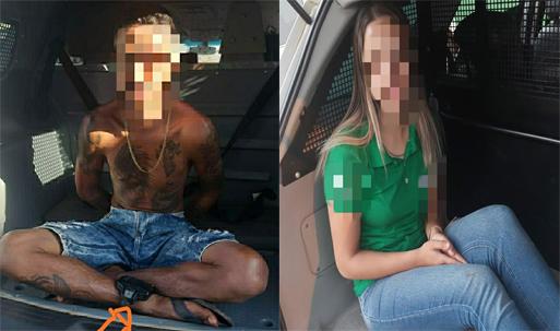 Policia prende homem por tráfico e mulher por agressão e desacato