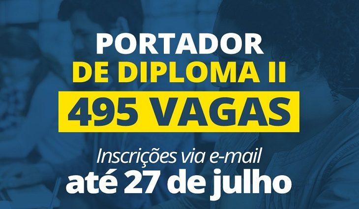 UEMS abre seleção para 495 vagas de Portador de Diploma II