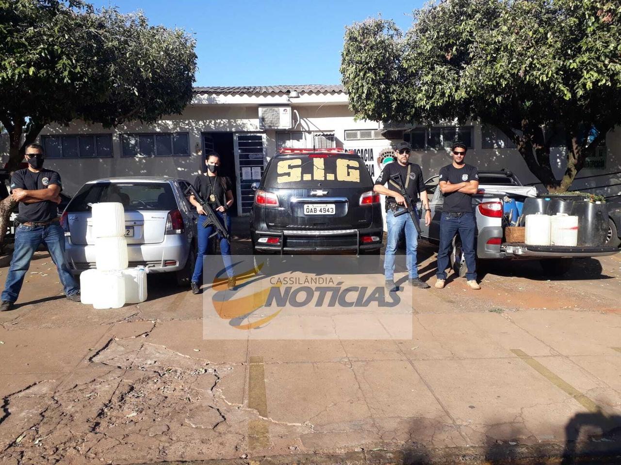 Cassilândia: Polícia Civil fecha ponto de venda clandestino de combustível