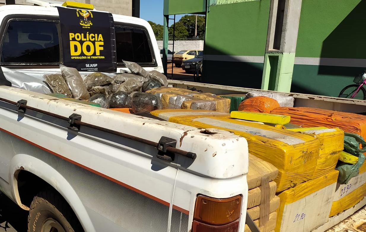 DOF apreende 800kg de drogas durante Operação Hórus