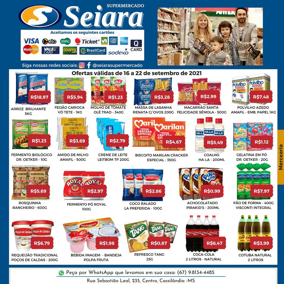 Cassilândia: confira o folheto de ofertas do Seiara Supermercado Econômico