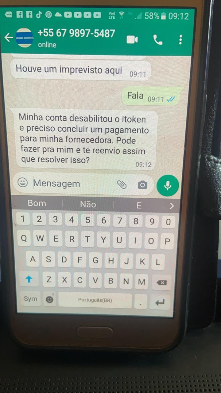 Cassilândia: golpistas estão usando nome de servidor da saúde para golpes no WhatsApp