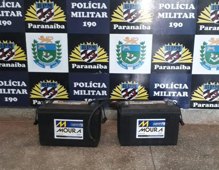 Polícia Militar prende homem por furtar baterias de empresa telefônica em Paranaíba