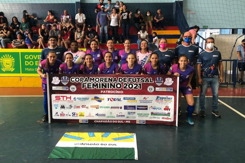 Com 100% de aproveitamento, Chapadão do Sul conquista Copa Morena de Futsal 2021 Feminina