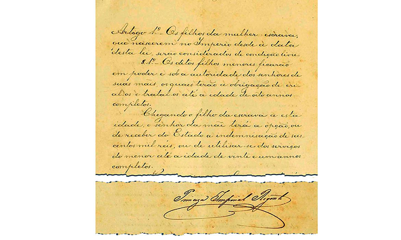 Há 150 anos, Lei do Ventre Livre era assinada