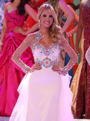 Sancler na final do Miss World 2013 (Foto:Leonardo Rodrigues/Miss Mundo Brasil/Divulgação)