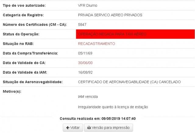 Documento retirado do sítio eletrônico da ANAC - Agência Nacional de Aviação Civil