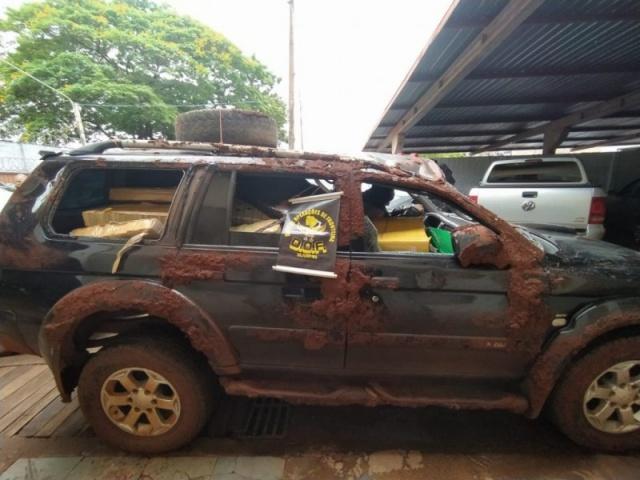 Veículo com mais de uma tonelada de maconha tinha placas falsas de Cassilândia