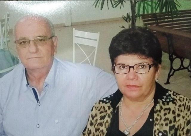 Arary e a esposa Dinorá